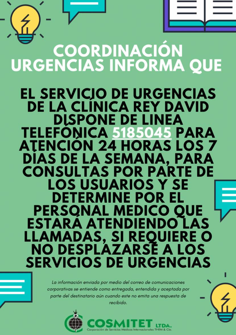 Cosmitet Ltda | Línea Telefónica 24/7 Urgencias